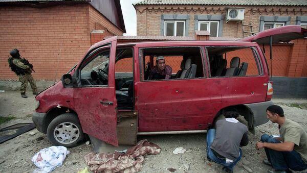Последствия взрыва в Ингушетии