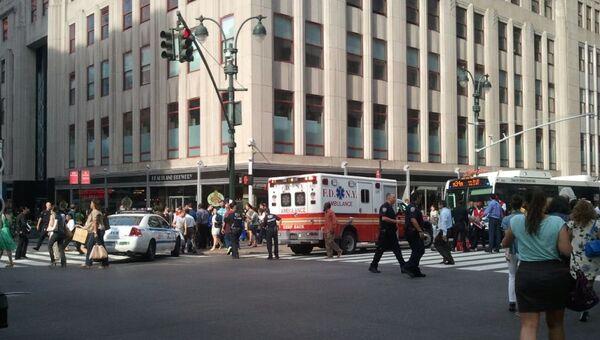 Последствия перестрелки возле Empire State Building в Нью-Йорке /