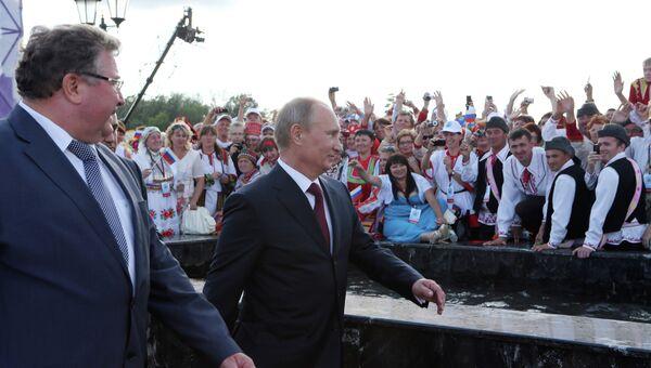 Рабочий визит В.Путина в Приволжский федеральный округ