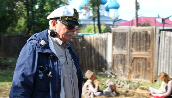 Никита Михалков на съемочной площадке фильма по мотивам прозы Бунина