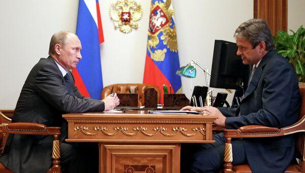 Встреча президента РФ В.Путина с А.Ткачевым