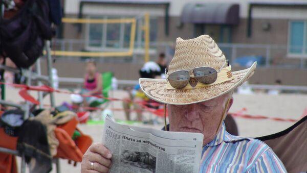 Пенсионер на Брайтон-бич в Бруклине. Архивное фото