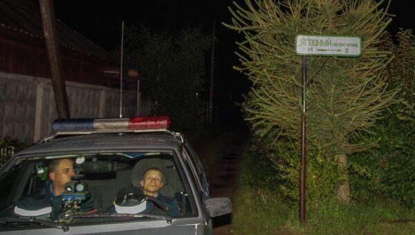 Правоохранители у дома во Всеволожске, где был убит Александр Викторов. Архивное фото