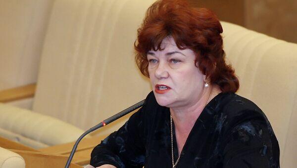 Депутат Госдумы от КПРФ Тамара Плетнева. Архивное фото