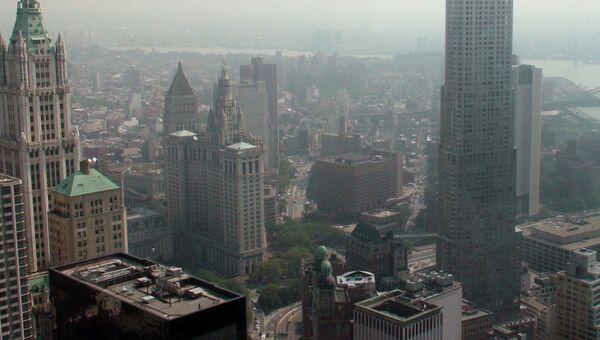 Вид из башни ВТЦ-4 Всемирного торгового центра в Нью-Йорке. Архивное фото