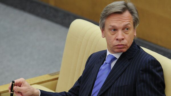 Глава международного комитета Госдумы РФ Алексей Пушков, архивное фото