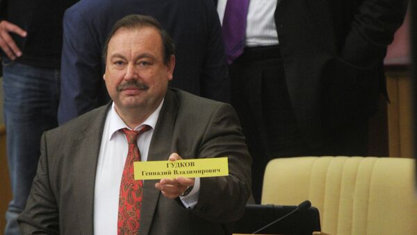 Депутат фракции Справедливая Россия Геннадий Гудков