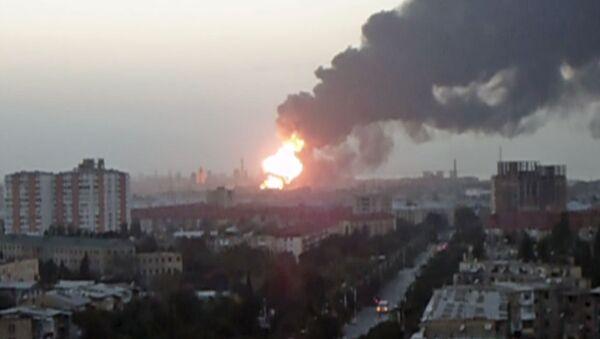 Взрывы и пожар на заводе в Азербайджане. Кадры с места ЧП