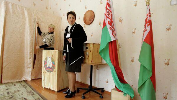 На избирательном участке в Белоруссии