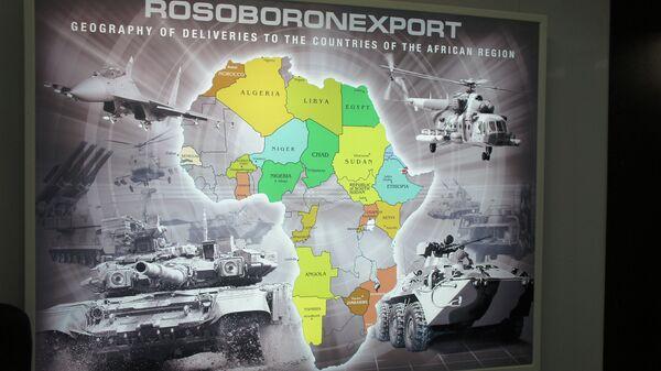 Карта со странами Африки, которые покупают российское оружие
