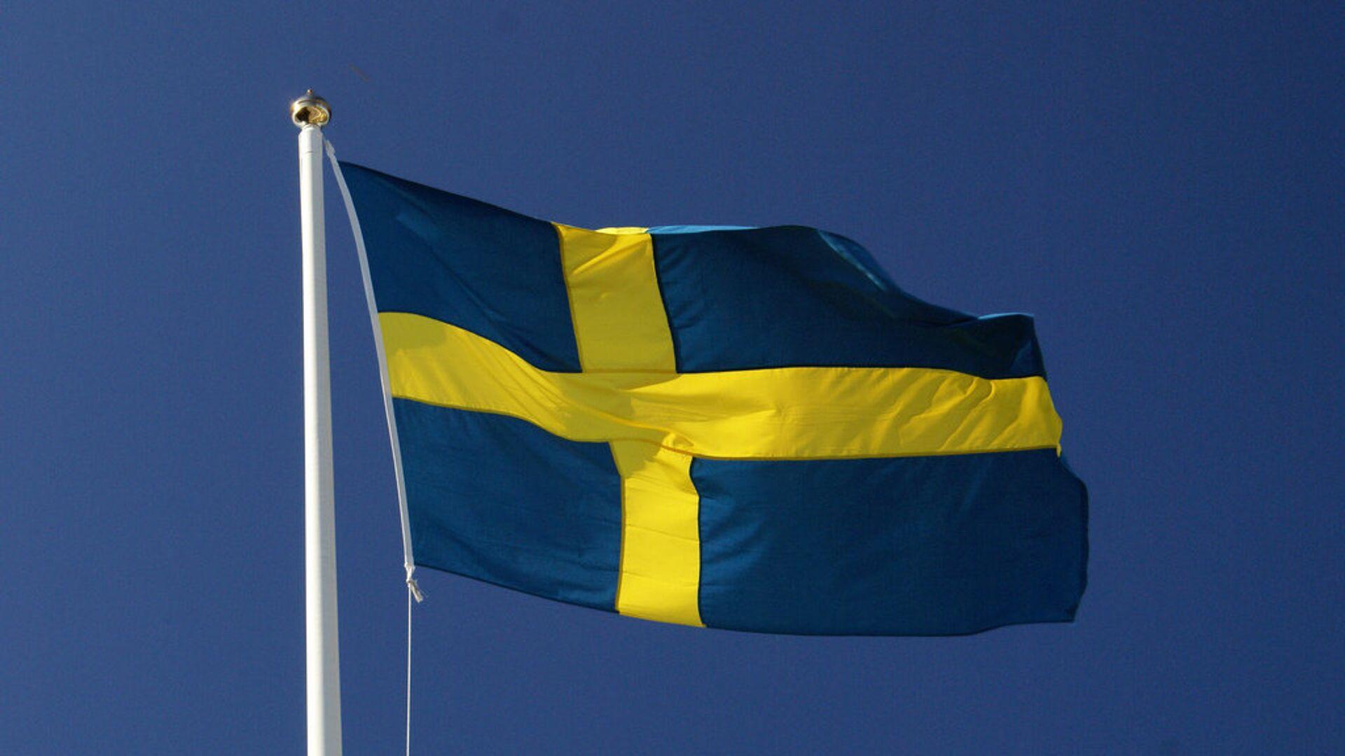 Шведский флаг - РИА Новости, 1920, 23.09.2020