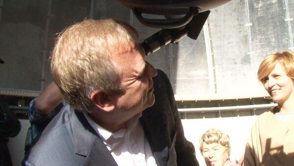 Капков увидел пятна на Солнце в обновленной обсерватории парка Горького