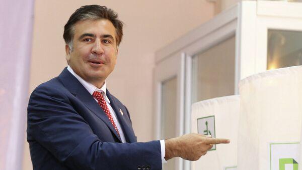 Президент Грузии Михаил Саакашвили. Архив
