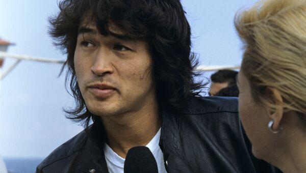 Лидер рок-группы Кино Виктор Цой. Архивное фото