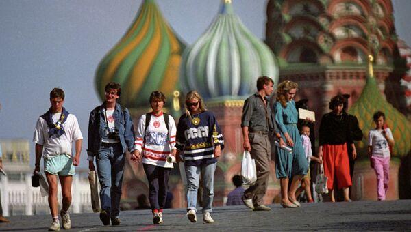 На Красной площади в Москве. Архив