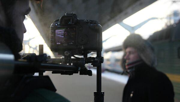 Съемки фильма для проекта «Кинопоезд»