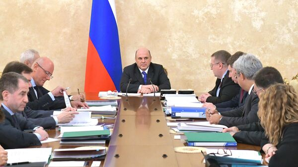 Председатель правительства РФ Михаил Мишустин проводит совещание о приоритетных задачах в рамках евразийской экономической интеграции