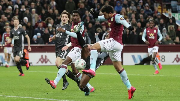 Soccer Football - Carabao Cup - Semi Final - Second Leg - Aston Villa v Leicester City - Villa Park, Birmingham, Britain - January 28, 2020  Aston Villa's Trezeguet scores their second goal   Action Images via Reuters/Carl Recine  EDITORIAL USE ONLY. No use with unauthorized audio, video, data, fixture lists, club/league logos or live services. Online in-match use limited to 75 images, no video emulation. No use in betting, games or single club/league/player publications.  Please contact your account representative for further details.