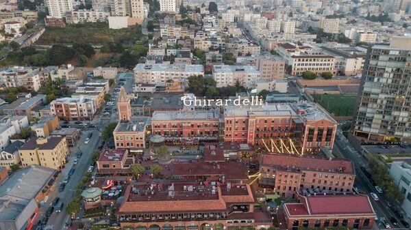 Город сладостей Жирарделли в Сан-Франциско