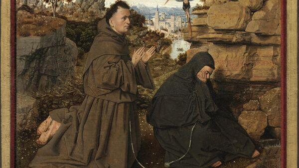 Ян ван Эйк Святой Франциск Ассизский получает стигматы, 1440 г.