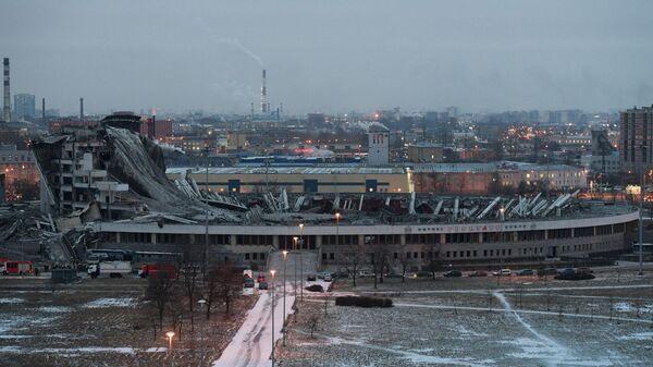 Обрушение крыши при демонтаже спортивно-концертного комплекса Петербургский