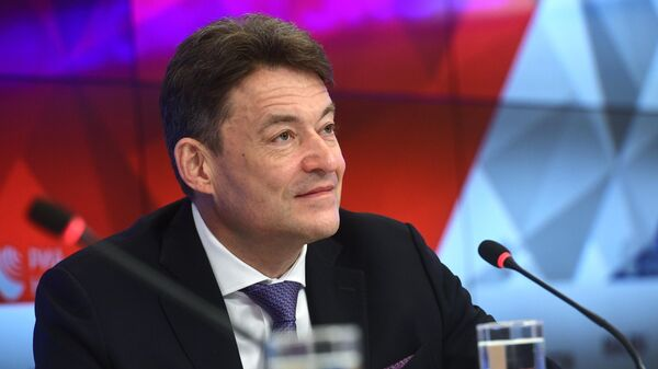 Главный внештатный онколог министерства здравоохранения РФ Андрей Каприн на пресс-конференции в Международном мультимедийном пресс-центре МИА Россия сегодня в Москве