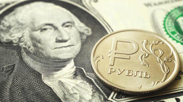 Российский рубль и американский доллар