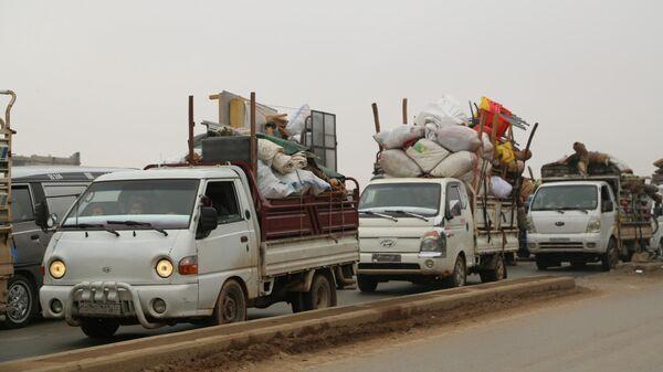 Местные жители покидают провинцию Идлиб, Сирия
