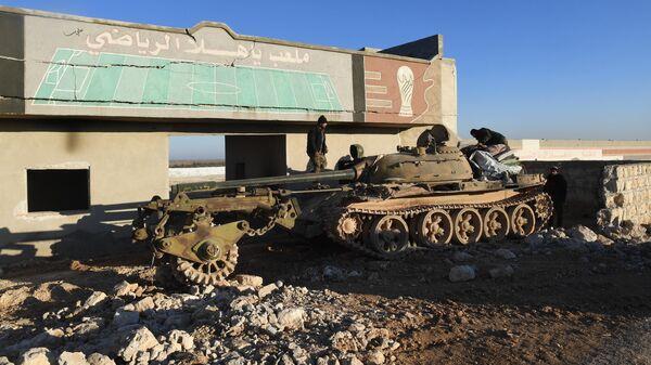 Военнослужащие Сирийской арабской армии в провинции Идлиб