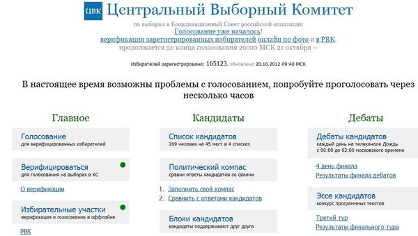 Сайт выборов в КСО