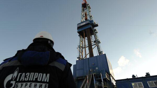 Газовая буровая установка Екатерина на Бованенковском месторождении. Архивное фото