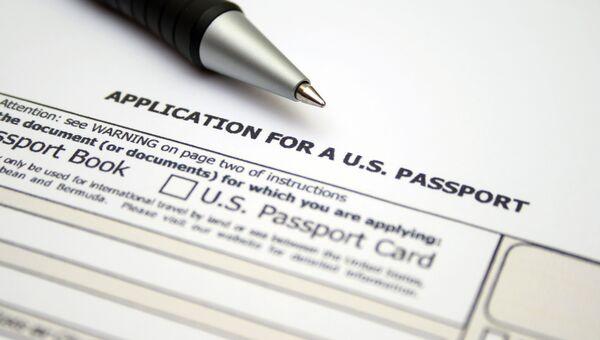 Заявление на получение паспорта США. Архивное фото