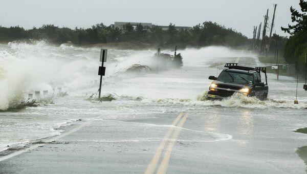 Начало урагана Сэнди в Саутгемптоне, Нью-Йорк