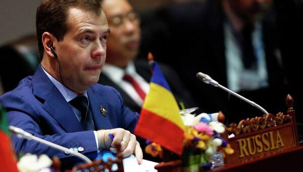 Премьер-министр России Дмитрий Медведев на форуме Азия-Европа