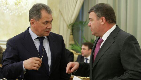 Сергей Шойгу и Анатолий Сердюков