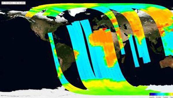 Карта многолетних и однолетних льдов, а также других типов поверхности, полученная при помощи спутника Зонд-ПП