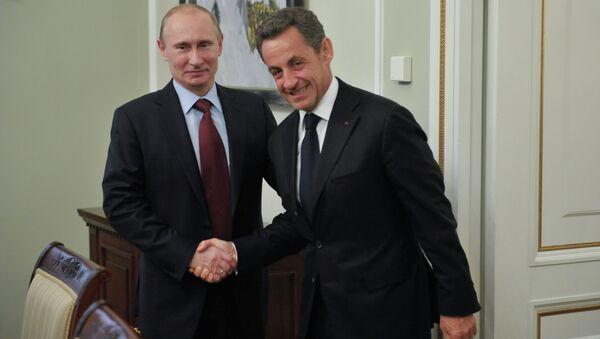 В.Путин и Н.Саркози. Архивное фото