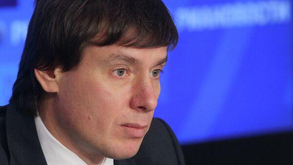 Брифинг министра по торговле ЕЭК Андрея Слепнева. Архивное фото