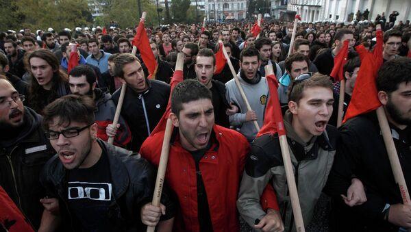 Марш протеста к посольствам США и Израиля в Афинах