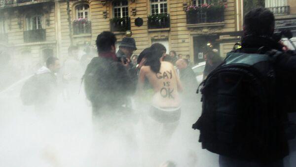 Манифестации против законопроекта о разрешении однополых браков во Франции