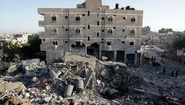 Последствия воздушных ударов по сектору Газа
