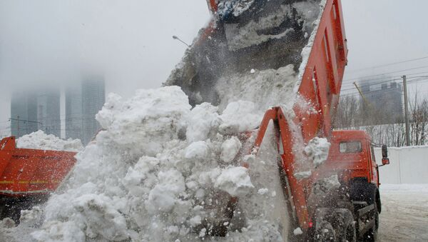 Работа снегоплавильного пункта. Архивное фото