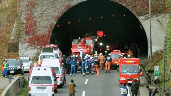 Тоннель обрушился на востоке Японии