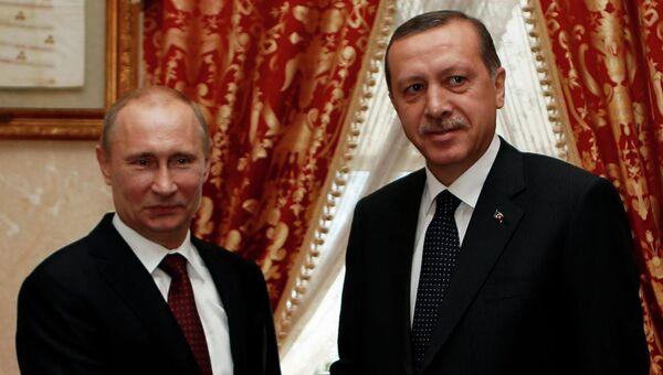 Переговоры президента РФ Владимира Путина с премьер-министром Турции Реджепом Эрдоганом в Стамбуле