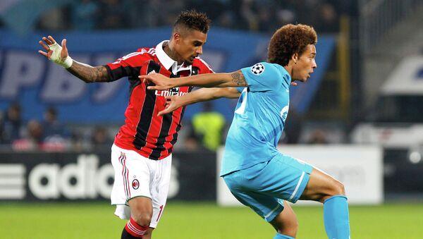Игрвоой момент матча Зенит - Милан