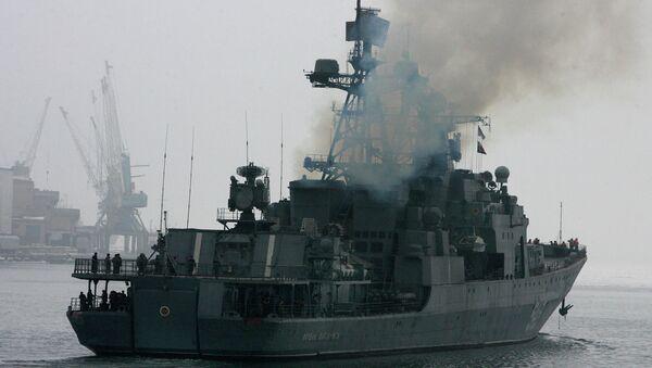 Проводы БПК Маршал Шапошников с отрядом кораблей в Аденский залив