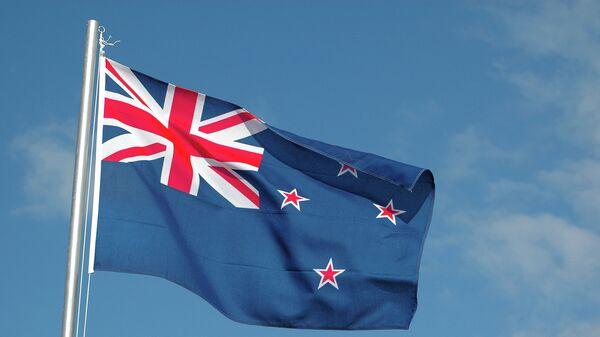 Флаг Новой Зеландии. Архивное фото.