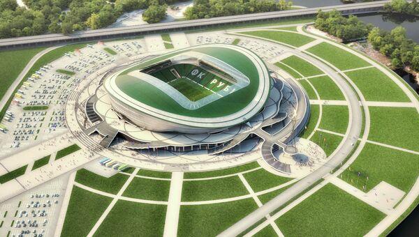 Макет будущего футбольного стадиона в Казани