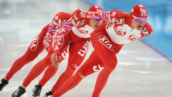 Российские конькобежцы