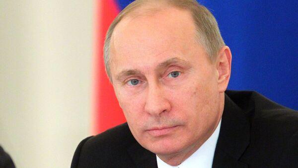 В.Путин и Д.Медведев на заседании Госсовета в Кремле